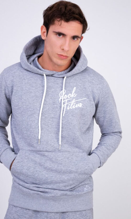 MEN Hoodie Heart Logo Grey