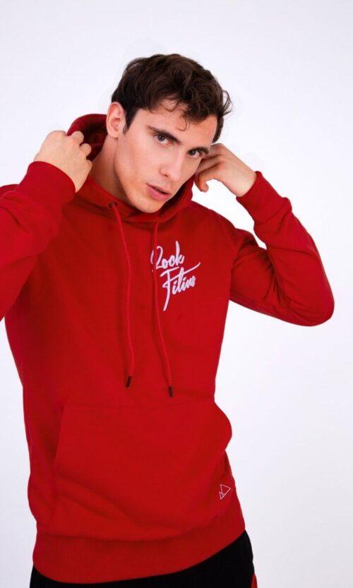 MEN Hoodie Heart Logo Red