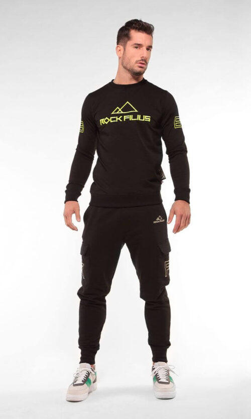 MEN Sweatpants Cargo Black