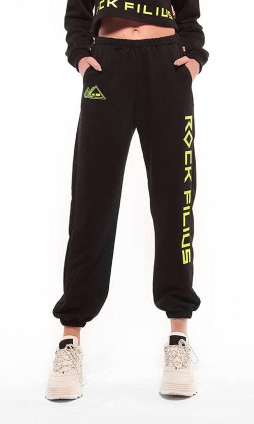 WOMEN Sweatpants HW Baggy Black