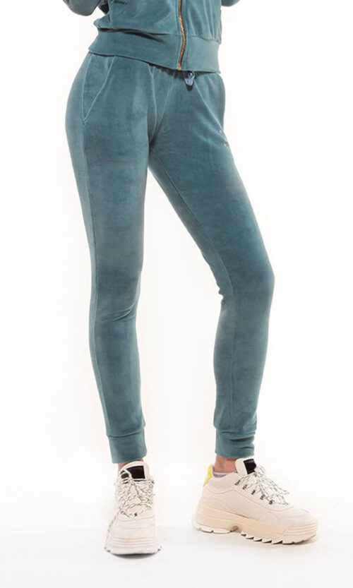 WOMEN Sweatpants Velvet Emerald Green