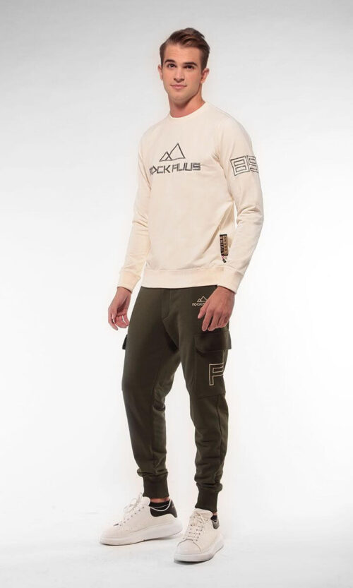 MEN Sweatshirt Logo Eightynine Off White