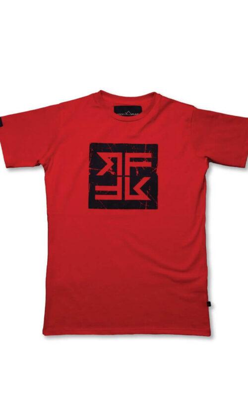 WOMEN T-Shirt Cube Red